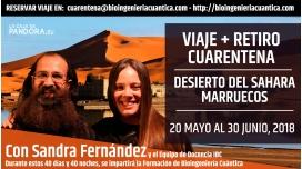 20 Mayo al 30 Junio 2018 – VIAJE + RETIRO – CUARENTENA DE VERANO EN EL DESIERTO DEL SAHARA