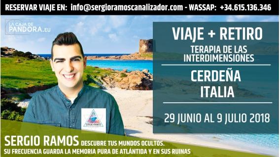 Del 29 Junio al 9 Julio 2018 - VIAJE+RETIRO A CERDEÑA - Terapia de las Interdimensiones - Sergio Ramos