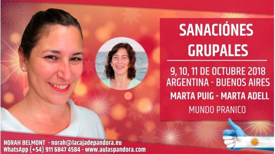 10 Octubre 2018 ( Buenos Aires, Argentina ) - RESERVA - Sanación Grupal con Marta Puig