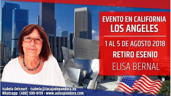 Del 1 al 5 Agosto 2018 ( Los Ángeles, California ) - Reserva - RETIRO ESENIO con Elisa Bernal