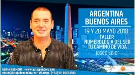 19 y 20 Mayo 2018 ( Buenos Aires, Argentina ) - RESERVA - Taller NUMEROLOGÍA DEL SER, TU CAMINO DE VIDA con Josep Soler