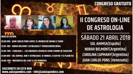 21 Abril 2018 ( Gratuito ) - II CONGRESO ONLINE DE ASTROLOGÍA de La Caja de Pandora