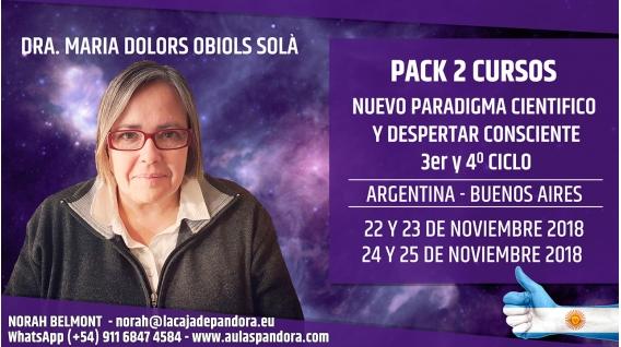 Del 22 al 25 Noviembre 2018 ( Buenos Aires - Argentina ) RESERVA - PACK 2 Cursos - 3er y 4º CICLO Nuevo Paradigma científico
