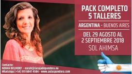 Del 29 Agosto al 2 Septiembre 2018 ( Buenos Aires, Argentina ) - RESERVA - Pack Completo 5 Talleres - Sol Ahimsa02