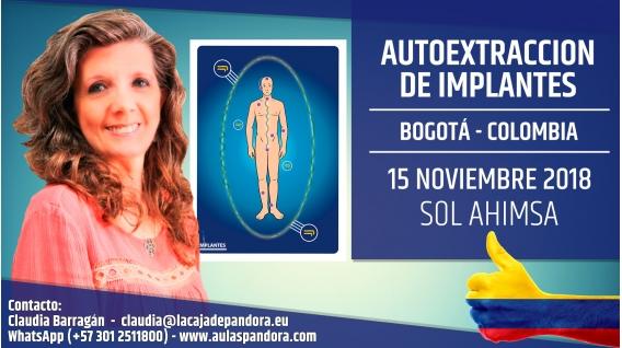 15 Noviembre 2018 ( Bogotá - Colombia ) - RESERVA - Taller - Detección y Extracción de Implantes - Sol Ahimsa