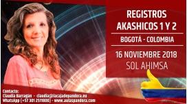 16 Noviembre 2018 ( Bogotá - Colombia ) - RESERVA - Taller Registros Akashicos 1 y 2 - Sol Ahimsa