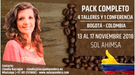 Del 13 al 17 Noviembre 2018 ( Bogotá - Colombia ) - RESERVA - Pack Completo 1 CONFERENCIA + 4 TALLERES - Sol Ahimsa
