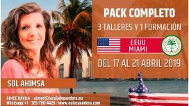 Del 17 al 21 Abril 2019 ( EEUU, Miami ) - RESERVA - Pack Completo 3 TALLERES + 1 FORMACIÓN - Sol Ahimsa