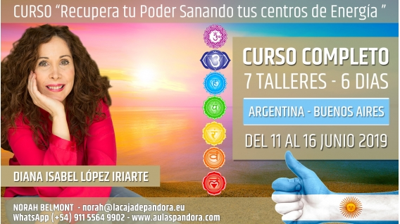 Del 4 al 9 de Junio 2019 ( Argentina, Buenos Aires ) - RESERVA - Pack completo 7 Talleres Curso de Diana López Iriarte