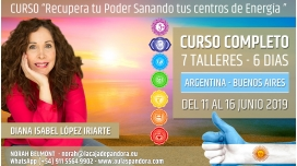 Del 11 al 16 de Junio 2019 ( Argentina, Buenos Aires ) - RESERVA - Pack completo 7 Talleres Curso de Diana López Iriarte