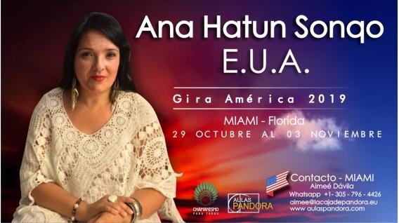 17 y 18 Noviembre 2018 ( Miami - Florida ) - RESERVA - PACK 2 TALLERES Y 1 SEMINARIO - ANA HATUN SONQO