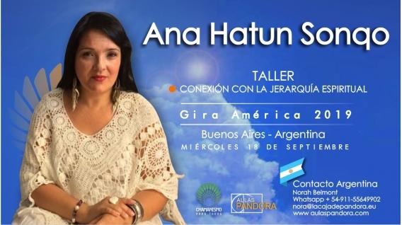 7 Diciembre 2018 ( Buenos Aires, Argentina ) - RESERVA - Taller Conexión con la Jerarquía Espiritual - ANA HATUN SONQO