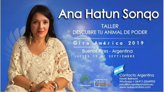 19 Septiembre 2019 ( Buenos Aires, Argentina ) - RESERVA - Taller Descubre tu animal de Poder - ANA HATUN SONQO