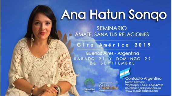 9 Diciembre 2018 ( Buenos Aires, Argentina ) - RESERVA - Ámate y Sana tus Relaciones - ANA HATUN SONQO