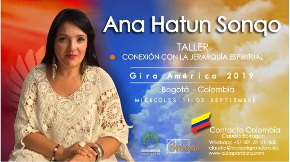 30 Noviembre 2018 ( Bogotá - Colombia ) - RESERVA - Taller Conexión con la Jerarquía Espiritual - ANA HATUN SONQO