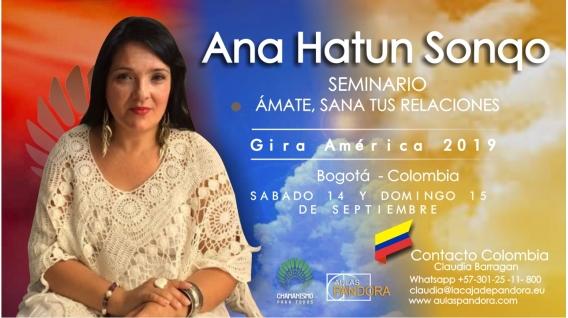 1 Diciembre 2018 ( Bogotá - Colombia ) - RESERVA - Seminario Ámate y Sana tus Relaciones - ANA HATUN SONQO