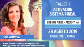 28 Agosto 2019 ( Buenos Aires - Argentina ) - RESERVA - Taller Activación del Sistema Pineal - Sol Ahimsa