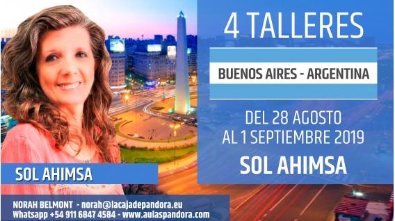 Del 28 Agosto al 1 Septiembre 2019 ( Buenos Aires - Argentina ) - RESERVA - PACK COMPLETO 4 Talleres - Sol Ahimsa