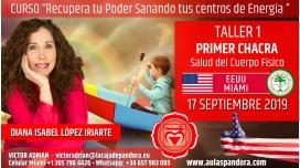 21 Mayo 2019 ( EEUU, Miami ) - RESERVA - TALLER 1 PRIMER CHACRA Curso de Diana López Iriarte