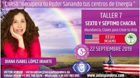 26 Mayo 2019 ( EEUU, Miami ) - RESERVA - TALLER 7  SEXTO Y SÉPTIMO CHACRA Curso de Diana López Iriarte