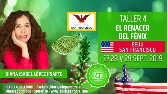 19 Mayo 2019 ( EEUU, San Francisco ) - RESERVA - TALLER 7  SEXTO Y SÉPTIMO CHACRA Curso de Diana López Iriarte