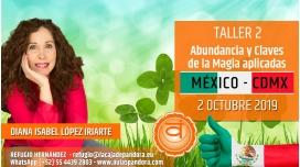 2 Octubre 2019 ( México, CDMX )  - RESERVA - TALLER 2 SEGUNDO CHACRA Curso de Diana López Iriarte
