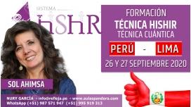 26 y 27 Septiembre 2020 ( Perú - Lima ) RESERVA - FORMACIÓN: Técnica Hishir, Técnica Cuántica - Sol Ahimsa