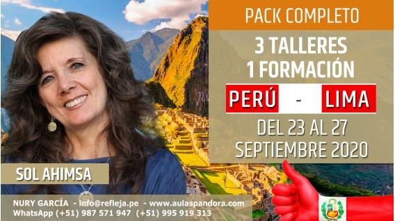 Del 23 al 27 Septiembre 2020 ( Perú - Lima ) RESERVA - PACK COMPLETO 3 TALLERES Y 1 FORMACIÓN - Sol Ahimsa