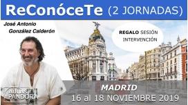 15 al 17 Noviembre 2019 ( Madrid, España ) - TALLER RECONÓCETE ( 2 Jornadas ) con José Antonio González Calderón