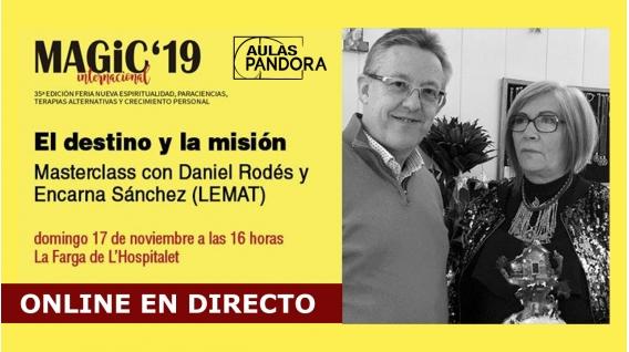 17 Noviembre 2019 ( Masterclass Online en Directo ) DANIEL RODÉS Y ENCARNA SÁNCHEZ, Tarot Lemat - El destino y la misión
