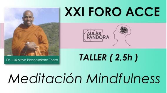 Rev. Dr. ILUKPITIYE PANNASEKARA THERO – Meditación Mindfulness ( XXI FORO ACCE )
