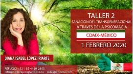 1 Febrero (CDMX- México)  RESERVA - ( Taller 2 ) SANACIÓN DEL TRANSGENERACIONAL con Diana López Iriarte
