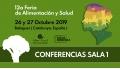 Conferencias Sala 1 -  12a FERIA DE ALIMENTACIÓN Y SALUD