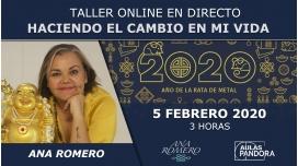 5 Febrero 2020 ( streaming en directo ) - Taller online: HACIENDO EL CAMBIO EN MI VIDA - Ana Romero