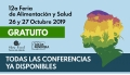 26 y 27 Octubre 2019 ( Conferencias online en Directo ) 12a FERIA DE ALIMENTACIÓN Y SALUD ( Sala 1 y Sala 2 )