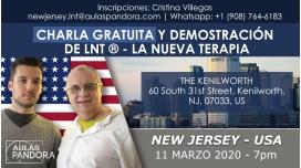 11 Marzo 2020 ( New Jersey - USA ) - Charla Gratuita y Demostración: LA NUEVA TERAPIA LNT®, Método Schwiderski