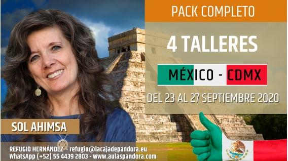 Del 8 al 12 Abril 2020 ( México - CDMX ) RESERVA - PACK COMPLETO 4 TALLERES - Sol Ahimsa