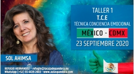 8 Abril 2020 ( México - CDMX ) RESERVA - TALLER 1: T.C.E. Técnica Conciencia Cuántica - Sol Ahimsa