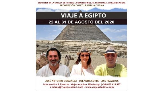 22 al 31 De Agosto Del 2020 – VIAJE A EGIPTO Con Yolanda Soria, Luis Palacios y José Antonio GonzáLez