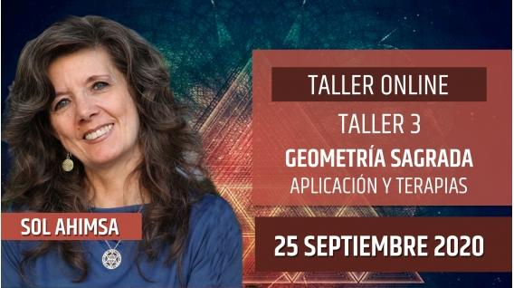 25 Septiembre 2020 ( Online en Directo ) TALLER 3: Geometría Sagrada, aplicación y terapias - Sol Ahimsa