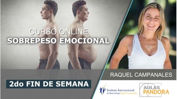 27 y 28 Julio 2019 ( En Directo ) - 2do Fin de semana - Curso online: SOBREPESO EMOCIONAL, con Raquel Campanales