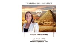 Del 14 al 26 Agosto 2021 - VIAJE A EGIPTO con Cristina Martín Jiménez