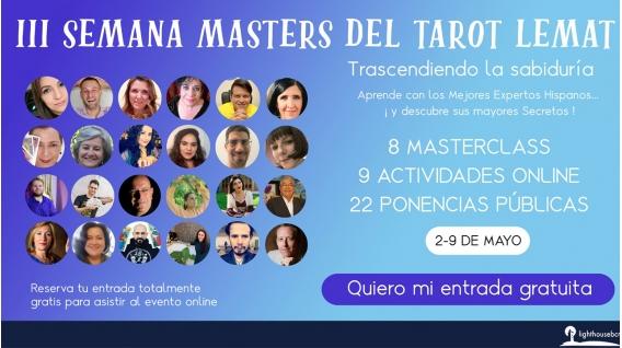Del 2 al 9 Mayo 2021 ( Evento online ) - III Semana Masters del Tarot