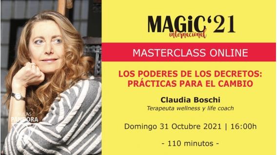 31 Octubre 2021 ( Online en directo ) Masterclass: LOS PODERES DE LOS DECRETOS - Claudia Boschi