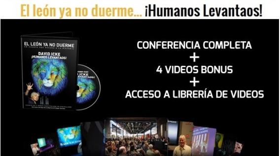 El león ya no duerme… ¡Humanos Levantaos! – DAVID ICKE – DVD ONLINE + BONUS