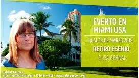 Del 14 al 18 marzo 2018 (MIAMI USA) - RETIRO ESENIO con Elisa Bernal